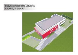 Obiekt usługowo-biurowy na sprzedaż. Szczecin, ul. Szeroka - Koncepcja 2