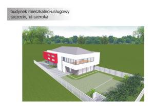 Obiekt usługowo-biurowy na sprzedaż. Szczecin, ul. Szeroka - Koncepcja 3